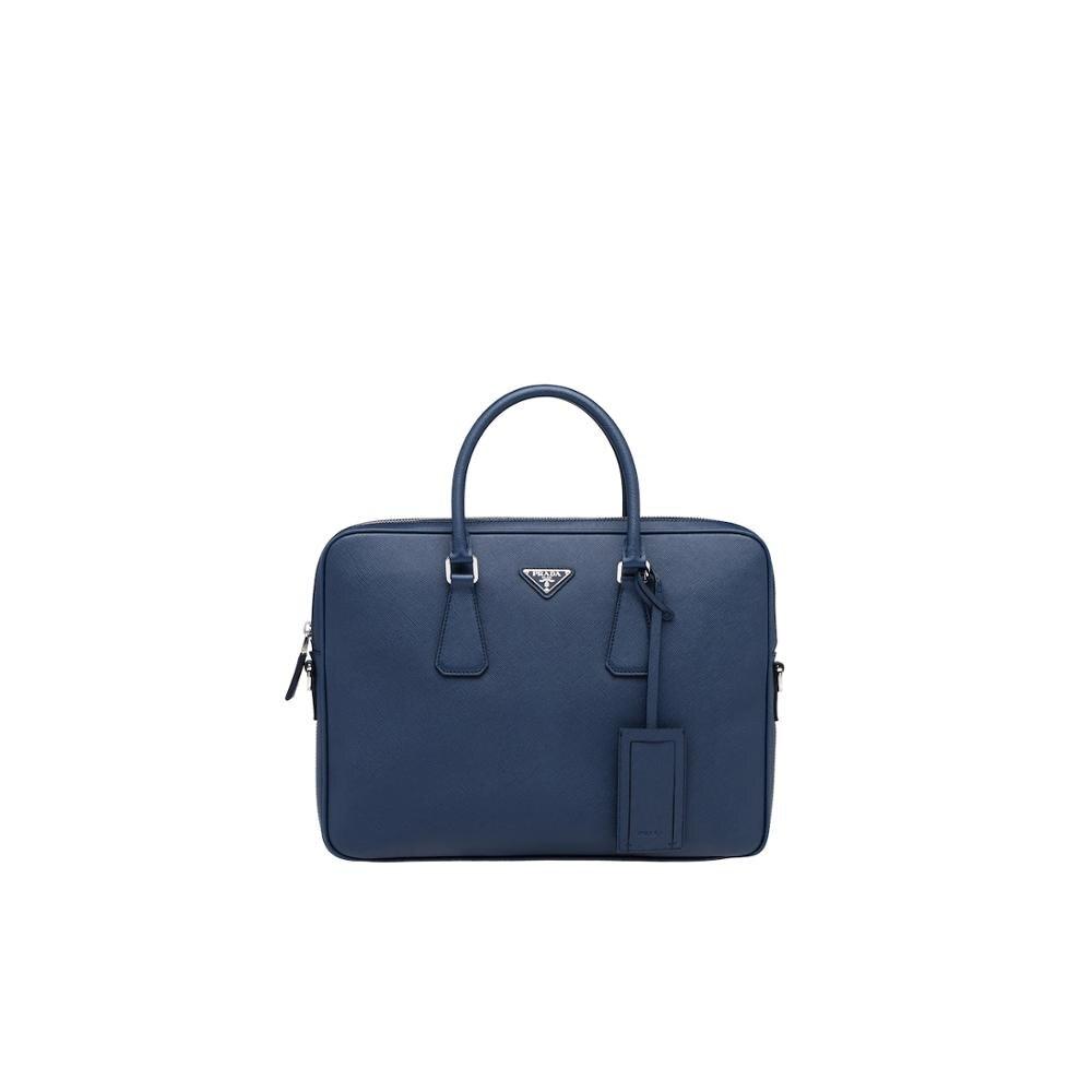 Prada Leather Briefcase Business Handbag For Men Large Capacity Messenger Shoulder Bag 2VE368_9Z2_F0216_V_OOX
