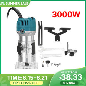 3000W Electric Hand Trimmer 6.35mm 220V EU Plug Wood Laminate Palms Router Joiners Router for Woodworking Power Tools Kit(China)
