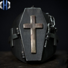 Original Design Handmade Silver 925 Ring Cross Punk