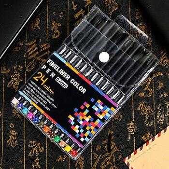 Diy 12/24/36/48/60pcs Colorful 0.4mm Neutral Permanent Marker Pen Metallic Draw School Office Stationery Art Supplies