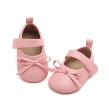 Baby PU Leather Shoes Baby Girl Baby Moccasins Moccs Bow Fringe Soft Soled Non-slip Footwear Crib Shoes New(China)