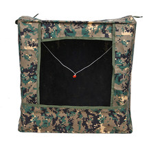 Folding Slingshot Target Box Archery Shooting Hanging Ammo Case with Stainless Steel Framework - Camouflage(China)
