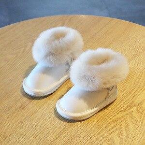 Детские зимние сапоги, детская хлопковая обувь принцессы для девочек и малышей, обувь для детей ясельного возраста, детские зимние сапоги д...