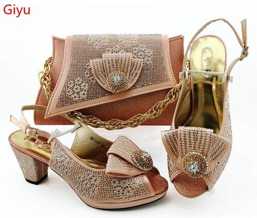 Doershow chaussures de pêche italiennes avec des sacs assortis chaussures et sacs pour femmes africaines ensemble pour la fête de bal d'été sandale! HBZ1-23