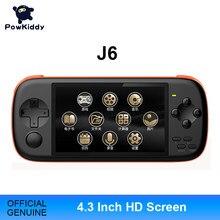 POWKIDDY – Console de jeu portable J6, écran IPS HD de 4.3 pouces, simulateur de 2300 ma, 16 go, Arcade MAME, jeux intégrés, Gif pour enfants