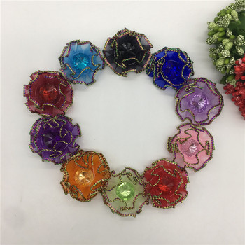 Sand belt Rhinestone 3D artificial flower Sequins Christmas home decoration DIY Craft Flower Wall Scrapbook Gift Box Accessory image