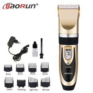 Image 1 - Rechargeable Electric Clippers Professional Hair Clipper for Men Adjustable Salon Clipper Cordless Hair Trimmer 8pcs Nozzles