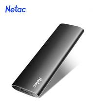 Netac SSD zewnętrzny przenośny dysk SSD 2TB 1TB 500GB 250GB dysk twardy USB 3 1 typ C zewnętrzne dyski półprzewodnikowe do laptopa tanie tanio CN (pochodzenie) 1 8 USB 3 1 typu C Pulpit Serwer Z slim Up to 500MB s 250GB 500GB 1TB 2TB Black Support