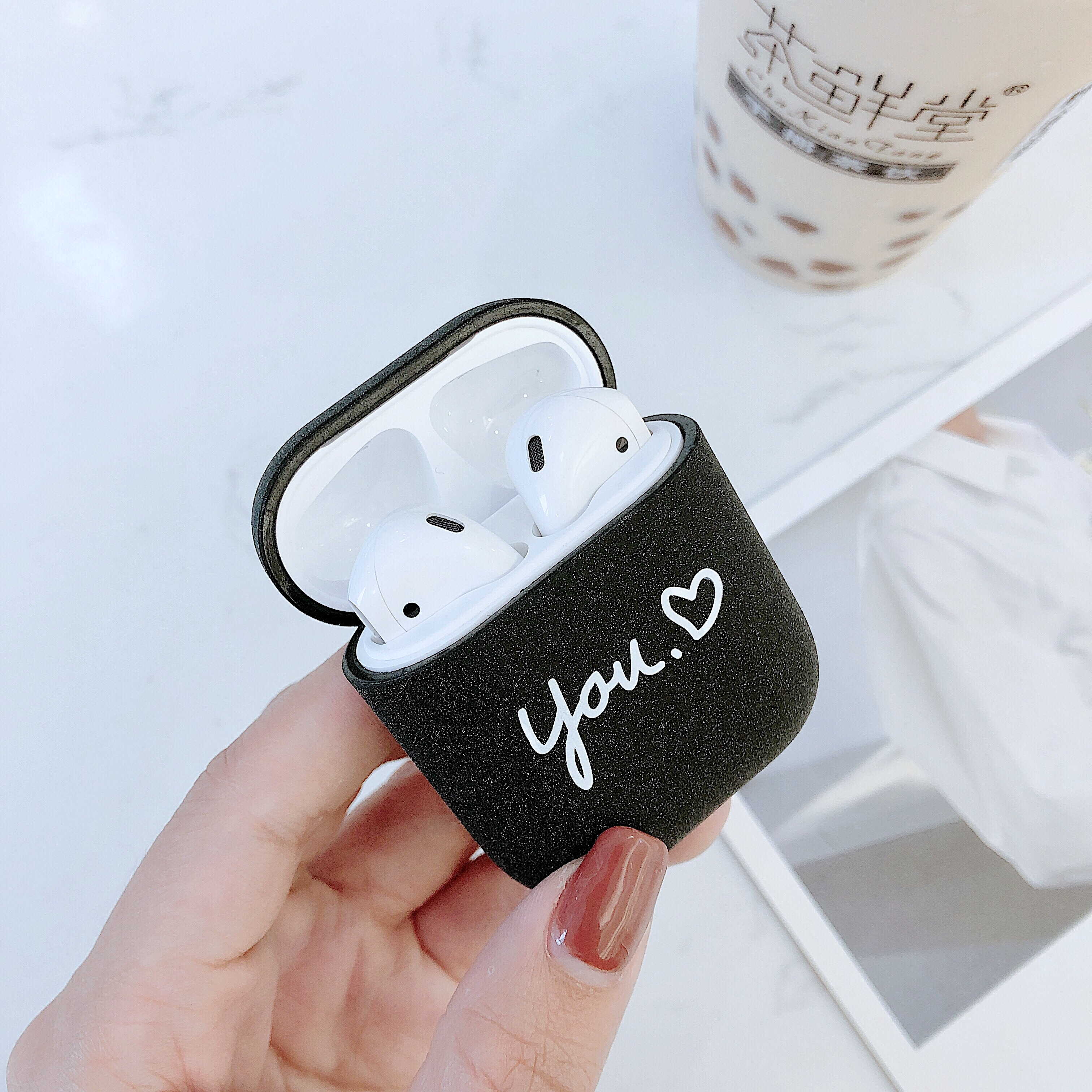 Купить с кэшбэком Hard Cate Earphone Case For Airpods Shockproof Cover For Airpods 2 Matte Pink Black Charging Box Accessories Protector  Case New