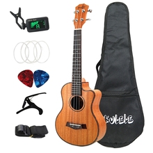 26 Inch Ukulele Set 19 Fret Tenor Mahogany Wood Ukulele Hawaii 4 String Mini Guitar Guitarra Rosewood Fingerboard Metal Pegs