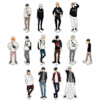 Anime Haikyuu Figures Desk Plate Models Acrylic Stand Model Toys Action Figures Toy Collection Decor Gifts starcraft ii sarah louise kerrigan 12 starcraft2 queen of blades action figures toy