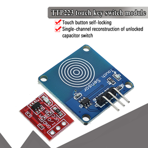 Image 1 - 5PCS TTP223 터치 키 스위치 모듈 터치 버튼 자동 잠금/잠금 없음 용량 성 스위치 단일 채널 재구성