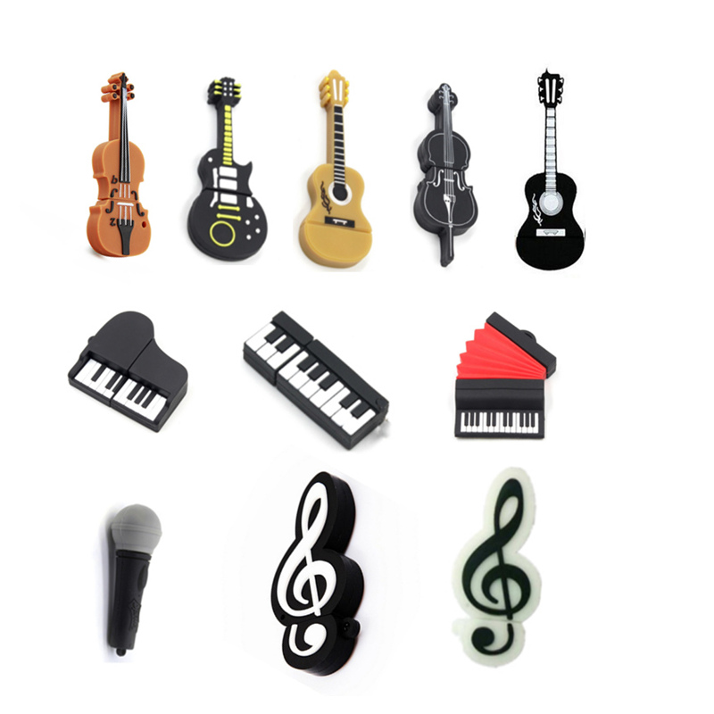 Cute PianoMike Pen Drive Musical Instruments Usb Flash Drive 32GB Usb Stick 4GB 8GB 16GB Pendrive 64GB 128GB 256GB Thumbdrives