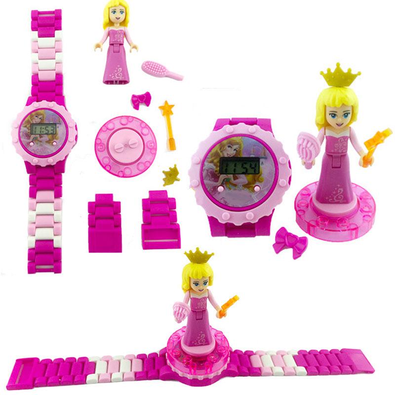 N0009 Children Watch Spiderman Batman Hulk Moana Princess Building Blocks Figures Children Watch Toys Kids Watch