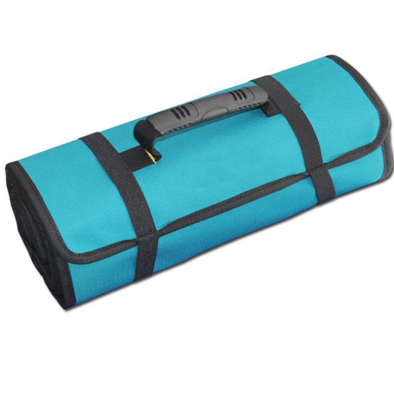 Reel Kit Multi-function Tool Bag Folding Tool Storage Bag Handle Oxford Canvas Wrench Storage Roll Tool Tool Case