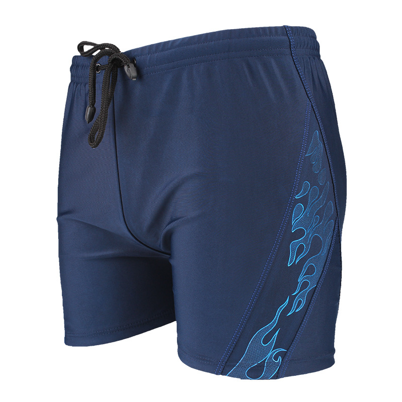 Swimming Trunks Men Boxer Large Size Slim Fit Swimming Trunks Industry Quick-Dry-Style Printed Comfortable Hot Springs Beach Swi