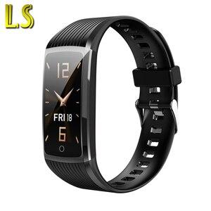LS Women R12 фитнес-трекер с пульсометром, Смарт-часы для мужчин, спортивный браслет, вибрация, фото, умные часы для Android