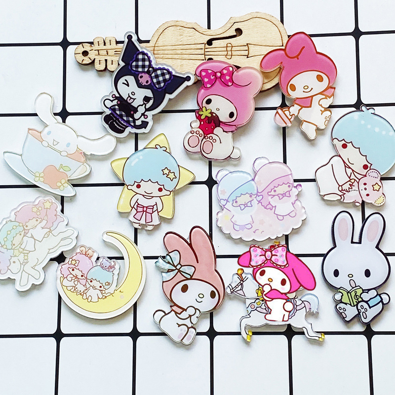 1PCS Fashion Rabbit brooch Cartoon Sheep Badges Cute Star Moon Iron On Little  For Clothing T-shirt Clothing Accessories