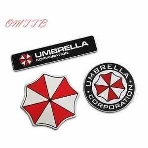 3D Aluminum Umbrella corporation car sticker accessories stickers For ford focus cruze kia mazda opel bmw vw audi car styling