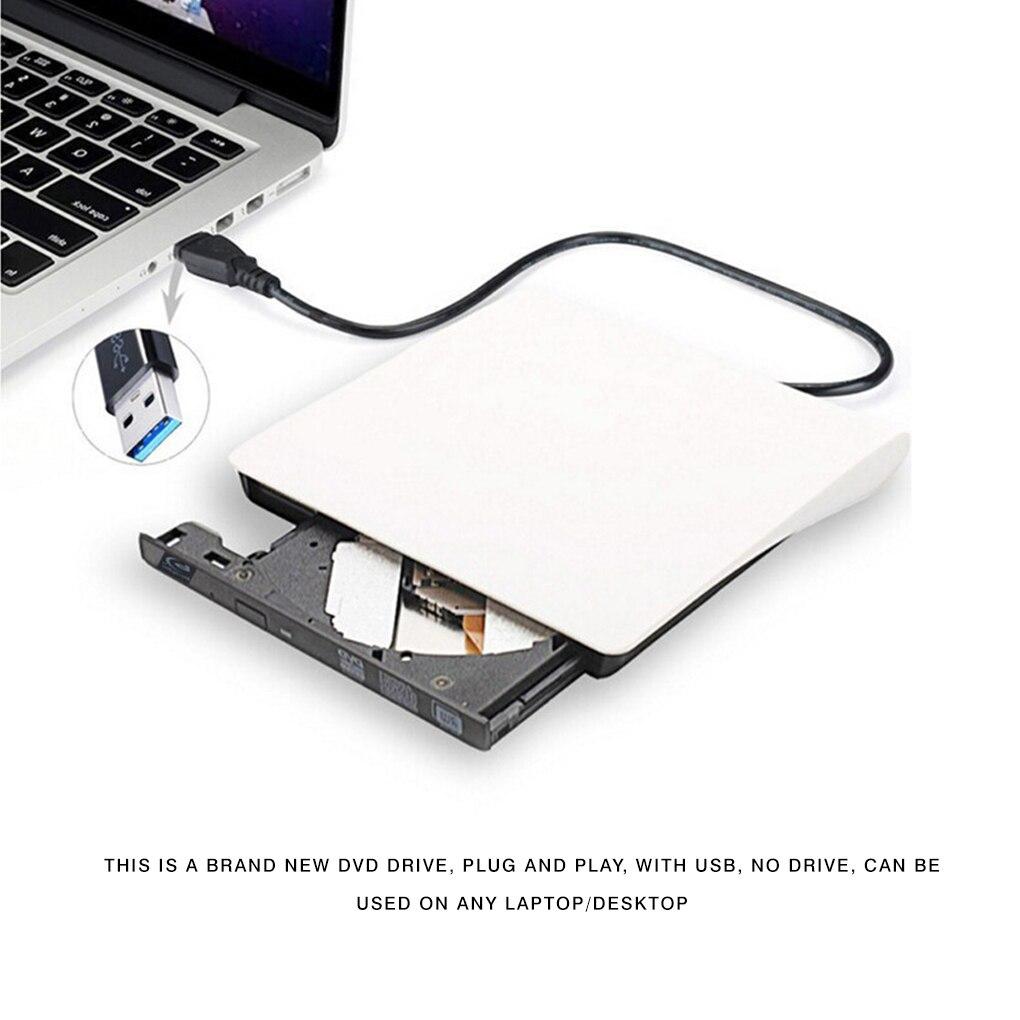 External DVD Drive USB 3.0 Portable CD DVD RW Drive Writer Burner Optical Player Compatible For Windows 10 Laptop Desktop