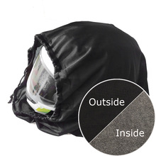 47x42cm Motorcycle Helmet Lid Protect Bag Drawstring Water Drawstring Pocket Black Plush Draw Pocket Helmet Protection Bag