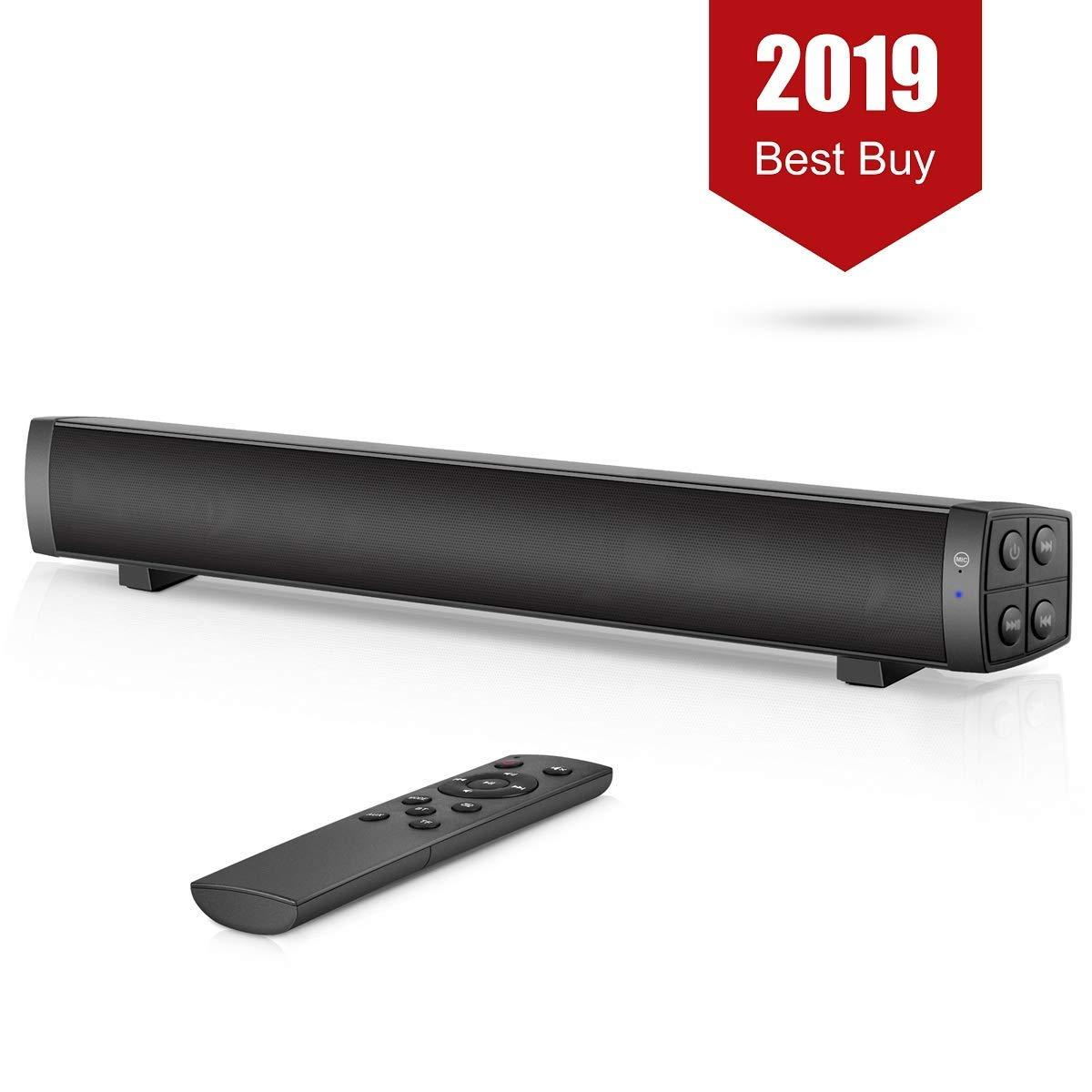 10W Bluetooth sans fil barre de son haut-parleurs stéréo 2.0 canaux TV Home cinéma barre de son Surround système de son AUX TF