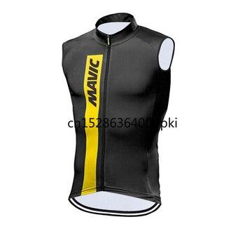 Mavic-Camiseta de Ciclismo para hombre, Ropa de bicicleta sin mangas, Maillot para...