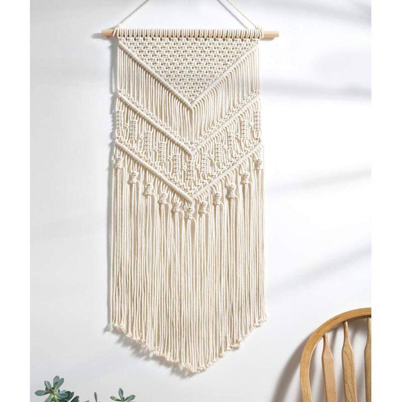 Macrame Wall Hanging Tapestry Wall Decor Cotton Tapestry Handmade Cotton Woven Bohemian Art Beautiful Apartment Dorm Room Home