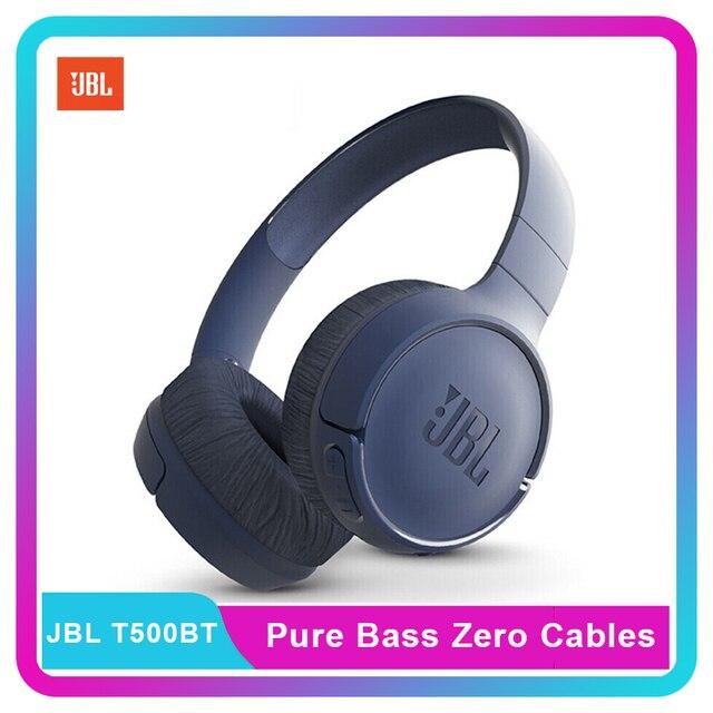 JBL מנגינה 500BT jbl t500bt אלחוטי Bluetooth משחק ספורט אוזניות עם מיקרופון הזרמת טהור עמוק בס קול ידיים שיחות חינם