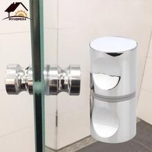 Myhomera, дверная ручка, стеклянная дверная ручка, подходит для 10-80 мм, толстый дверной съемник, нажимной, для ванной комнаты, душевой шкаф, ручки, ящик, серебристый матовый