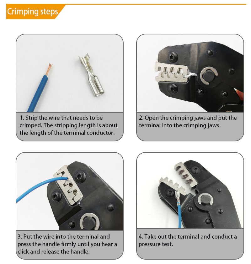 Electrician mini crimping pliers set for 2.8/4.8/6.3/VH3.96/tube/lnsulation/terminals, hand tool crimping pliers SN-48BS=48B+28B 3