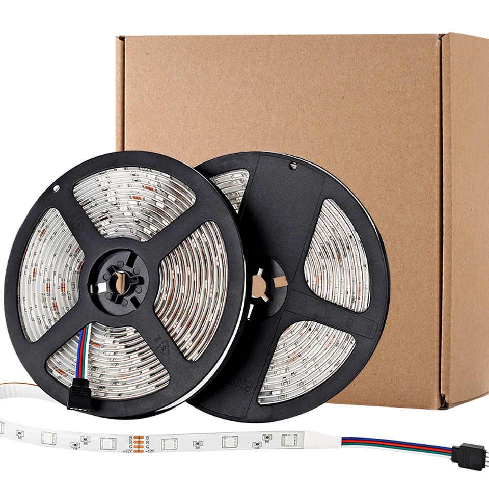LED قطاع ضوء إضاءة ذكية RGB 5050 مصلحة الارصاد الجوية مرنة الشريط led شرائط مصباح اليكسا RGB الشريط ديود تيار مستمر 12 فولت التحكم عن بعد واي فاي محول