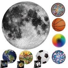 Rompecabezas redondo de 65CM para niños y adultos, rompecabezas de cielo estrellado de 1000 piezas, juguetes educativos de planetas para la Tierra, juegos de rompecabezas