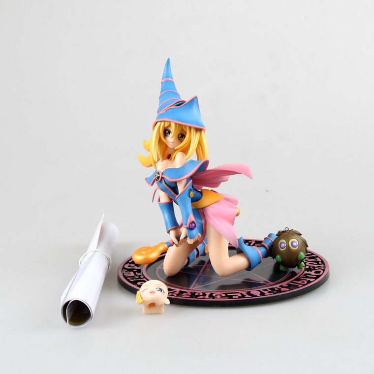 16.5cm Japanese Anime Yu-Gi-Oh Dark Magician <font><b>Girl</b></font> Mana With Winged Kuriboh <font><b>sexy</b></font> <font><b>girls</b></font> PVC Action Figure Collection Model Toys image