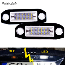 2Pcs LED license plate Light for Volvo S80 XC90 S40 V60 XC60 S60 C70 V50 XC70 V70 Dropshiping car computer screen display projector refkecting windshield for volvo c70 s40 s60 s70 s80 s90 v40 v70 v90 xc70 driving screen