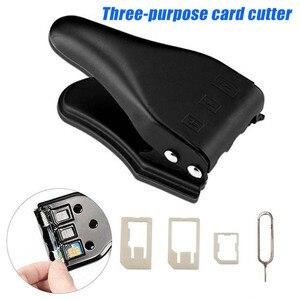 Image 2 - 3 em 1 micro/padrão para nano sim cartão ferramenta de cortador para apple iphone 6/7/8 samsung em88
