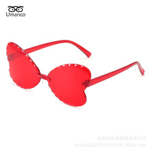 Children Sunglasses Eyewear Lens Pc-Frame Girls Boys Fashion Gradient AC Umanco Rimeless