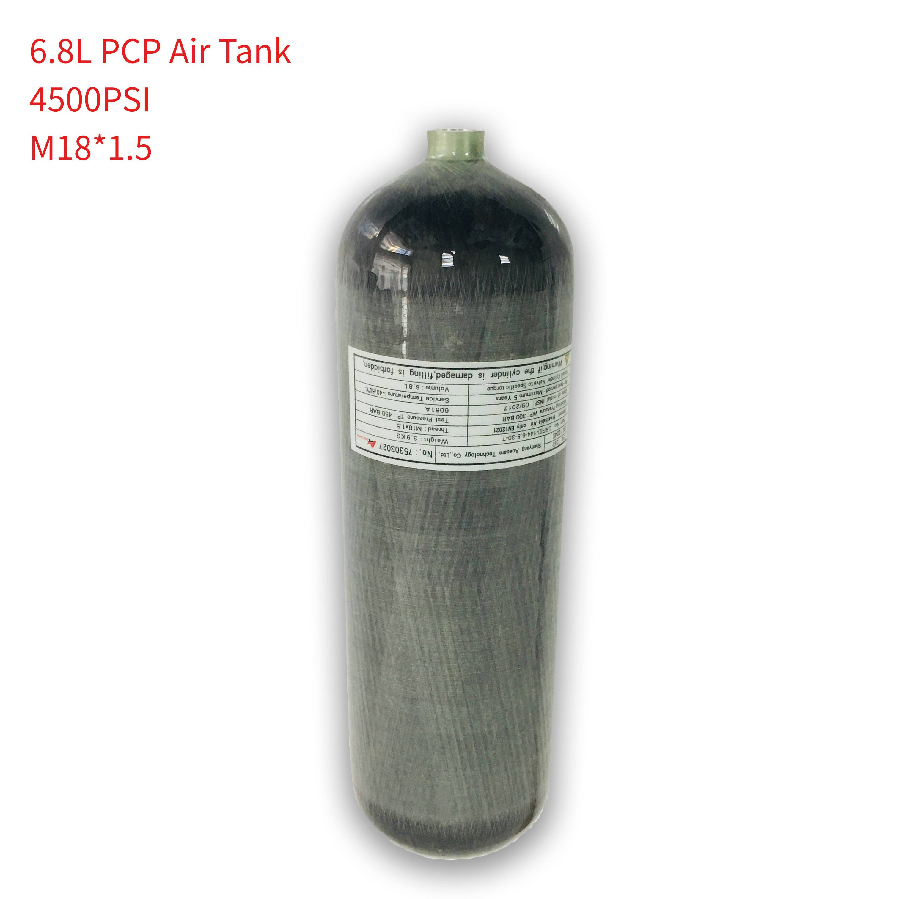 AC168 Compressed Air Guns To Hunt 6.8L Hpa Gas Cylinder Diving Bottle Co2 Paintballing Rifle Underwater Airgun Pcp Gun Pressure