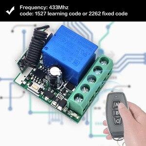 Image 3 - DieSe RF 433 МГц универсальный беспроводной пульт дистанционного управления DC12V 1CH релейный модуль приемника 3 кнопки для лампы 1 передатчик 3 функции