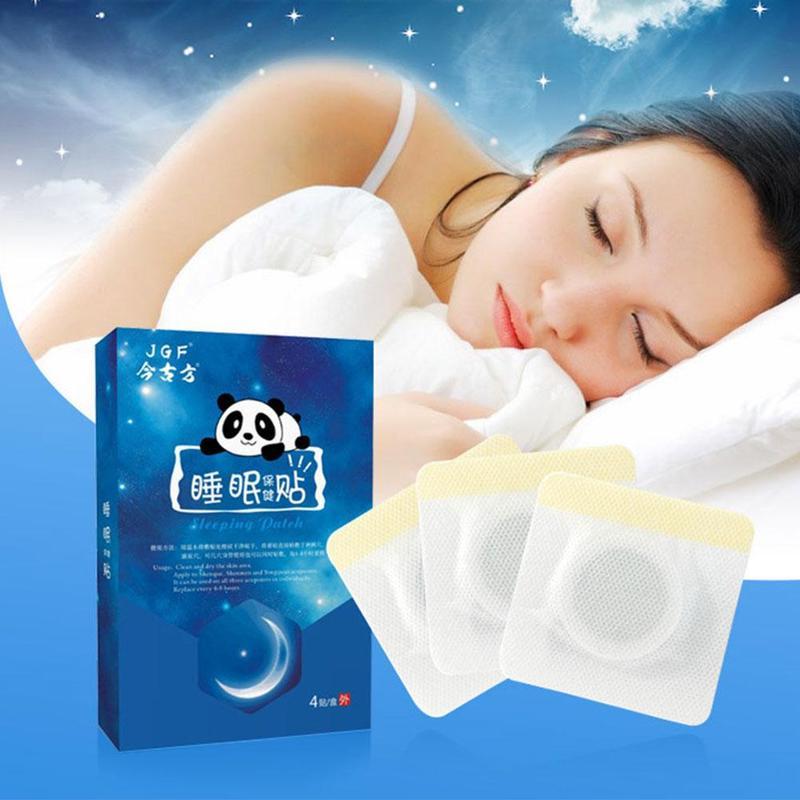 4pcs/box Insomnia Stickers Unisex Chinese Herbal Medicine Neurasthenia Paste Sticker Soothing Sleep Aid Patches Health Massage