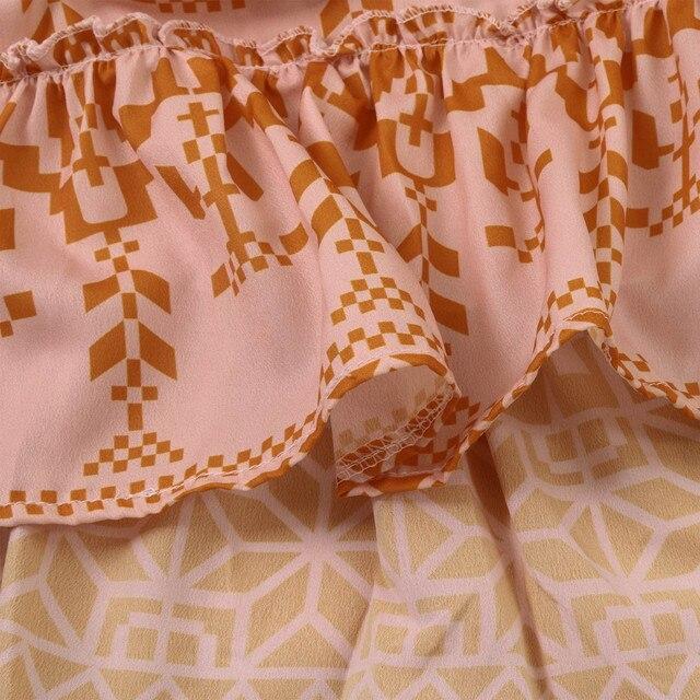 Summer Boho Floral Print Dress 5