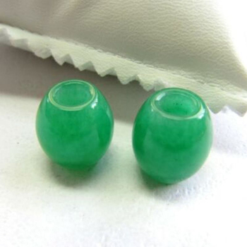 1pcs Imperial Chinese Full Rich Green Jade / Jadeite Pendant / Lucky Bead Pendant image