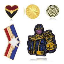 Avengers Endgame Superhero Brooch Captain America Marvel Thanos Pins Badge Cosplay Jewelry Gift For Best Friends