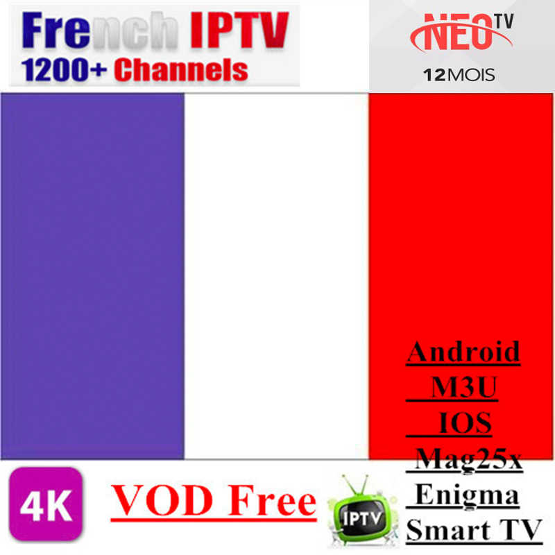 Neotv pro French Iptv subscription Live TV VOD sports Android m3u enigma2 mag smart tv Arabic France Belgium neo one year iptv