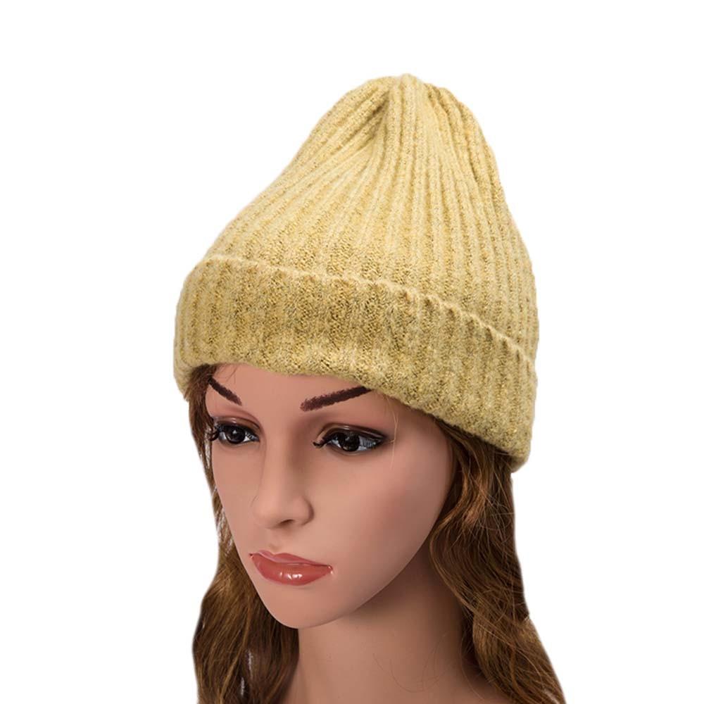 Осенне-зимняя вязанная шапка, шапки-булочки, Повседневные шапки унисекс, для осени и зимы, Вязанные шерстяные шапочки, модные шапки