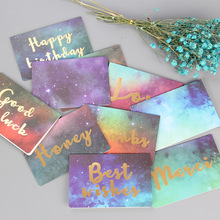купить Festival Greeting Postcard Creative Cards Happy Birthday Good Luck Wedding Birthday Party Decor Cards Blessing 1 pcs по цене 33 рублей