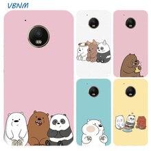 Cartoon We Bare Bears Panda Cute Printed Riverdale Soft Rubber Case For Motorola Moto G7 Power G6 G5 G5S E4 E5 Plus G4 Play Hull