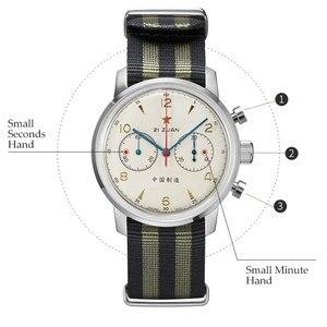 Image 3 - RED STAR 42mm Mens Chronograph Watches ST1901 Movement with Gooseneck Device Clock 21 Zuan Men Mechanical Hand Wind Wrist Watch
