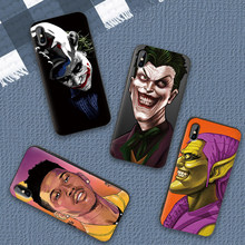 Batman Dark Knight Joker Karta Caso de Telefone de Silicone Macio Para Samsung Galaxy S8 S9 S10 Plus NOTA 8 9 M10 m20 M30 S7 Borda Coque(China)
