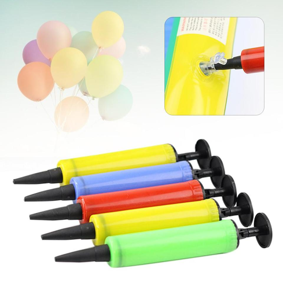 5Pcs Portable Balloon Inflatable Pillow Toy Air Pump Plastic Manual Inflator New
